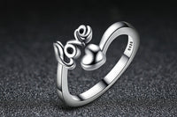 Gorgeous 100% 925 Sterling Silver I Love You Heart Ring