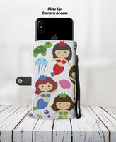 Mermaid Design with RFID Protection Wallet Phone Case