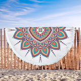 Mandala Design Round Yoga Meditation Mat Beach Blanket