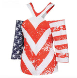 USA Flag Bare Shoulder Women's Top