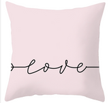 Love Heart Valentine Pillow Cover