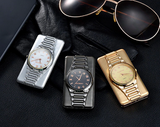 Classic Watch for Men Windproof Electronic Lighter and USB
