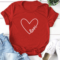 Heart Love Casual Short Sleeve Shirt