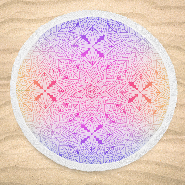 High Quality and Stylish Round Beach Blanket Seamless Pattern 61'' x 61''
