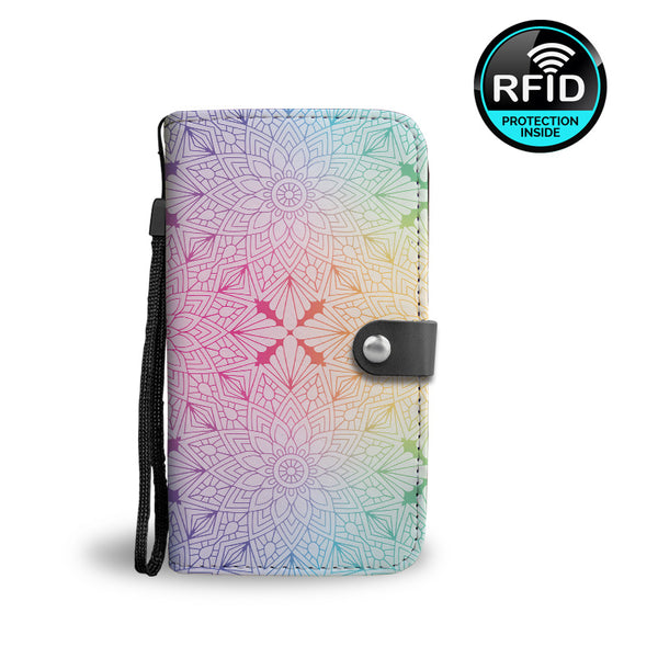 Seamless Design Wallet Phone Case with RFID Protection