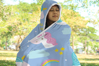 Hooded Blanket Unicorn Design for Children and Adults