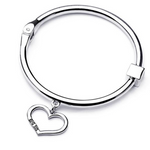Big Sis Lil Sis Charm Bangle Set (Shipped From USA)