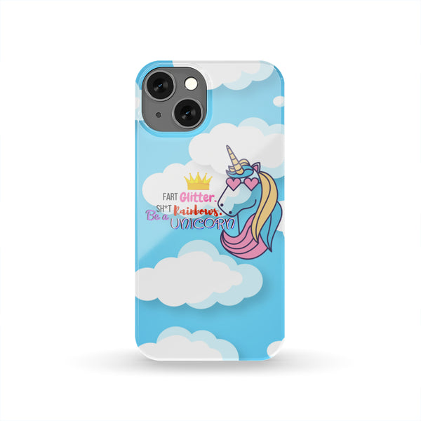 Pretty Unicorn with Funny Message Protection Case for iPhone and Samsung