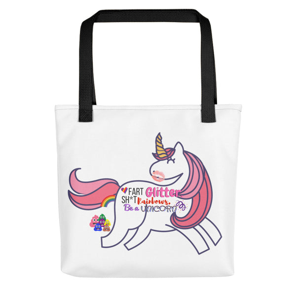 Fart Glitter Sh*t Rainbows Be a Unicorn Tote Bag
