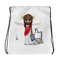 Jesus 2.1 Billion Followers Drawstring bag