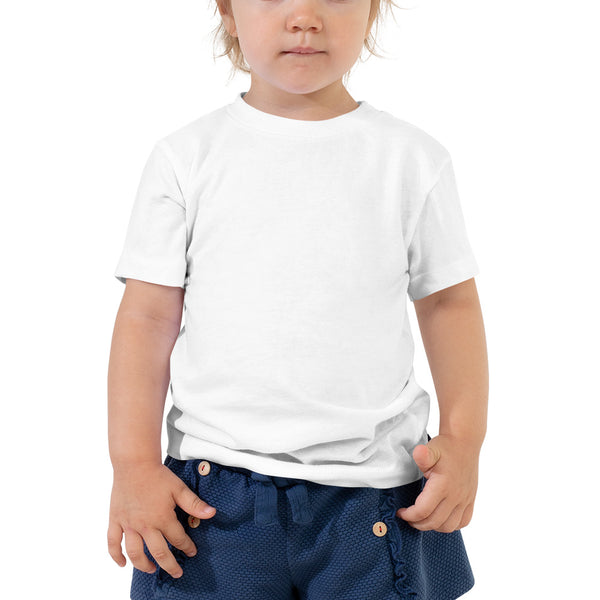 Toddler Short Sleeve Tee with Buy American Drink More Bourbon Print