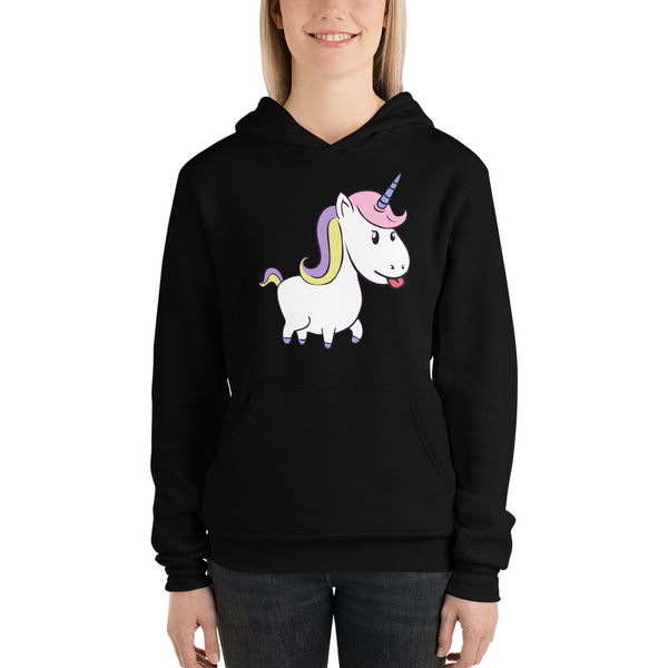Soft Women's Hoodie Funny Unicorn Design
