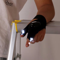 NEW LED Flashlight Glove - Fingerless Glove