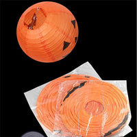Halloween Paper Pumpkin Hanging Lantern Party Decor Scary 20/30/40cm