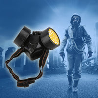 Emergency Gas Mask For Safety And Survival - Respirator Mask with Dual Protection Filters