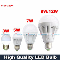 Ultra Bright Warm White LED Bulb - 3W to 12W
