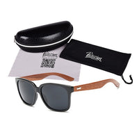 Designer Wooden Frame Men Sunglasses