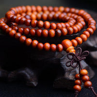 Vintage Sandalwood Buddhist Prayer Bead Bracelet - 6mm, 108 Beads