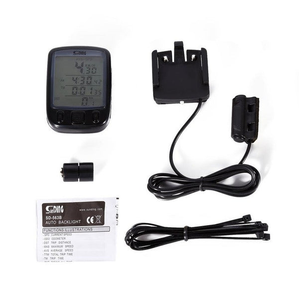 Waterproof LCD Odometer & Speedometer For Cycling