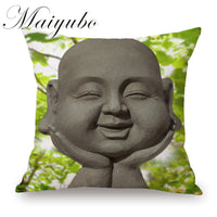 Knitted Buddha Pillow Cover - Thai Art Pillow Case