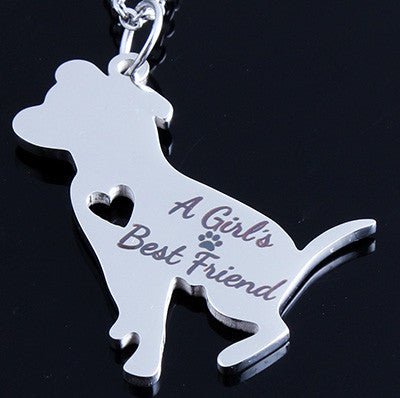A Girl's Best Friend - Pitbull Pendant Necklace
