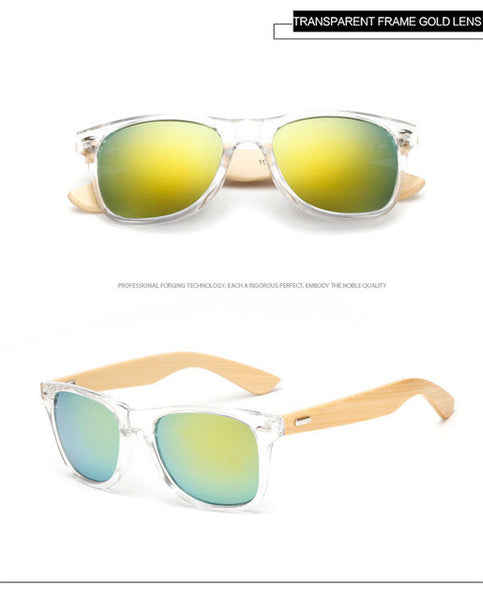 Bamboo Wooden Sunglasses - Designer Sunglasses - Many Styles & Colors