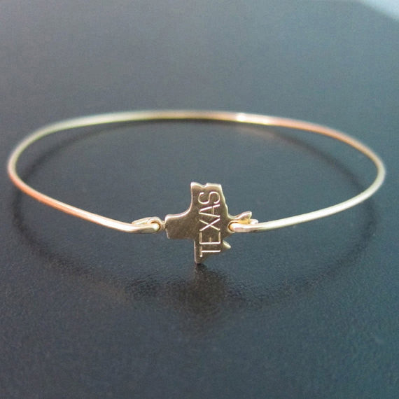 Gold Texas State Bracelet