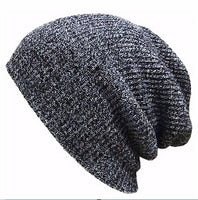Solid Color Unisex Beanie - Soft Knitted Hat