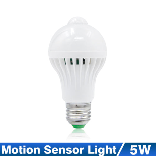 Motion or Sound Sensor Activated LED Light Bulb - 220V, 3W TO 12W, INFRARED