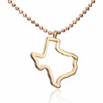 State of Texas Pendant Necklace - Hollow Out Gold Necklace