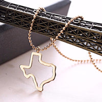 FREE State of Texas Pendant Necklace - Hollow Out Gold Necklace