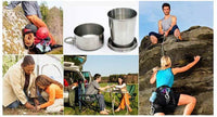 Stainless Steel Folding Cup for Survival/Camping