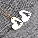 Cute Dog Heart Shaped Charm Necklace