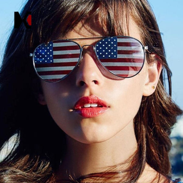 American Flag Pilot Sunglasses for Men and Women