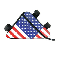 Waterproof American Flag Cycling Bag | Mountain Bike Frame Pouch Bicycle Bag