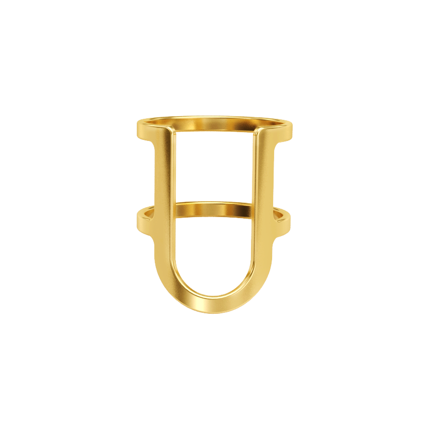 Shieldless Gold Ring