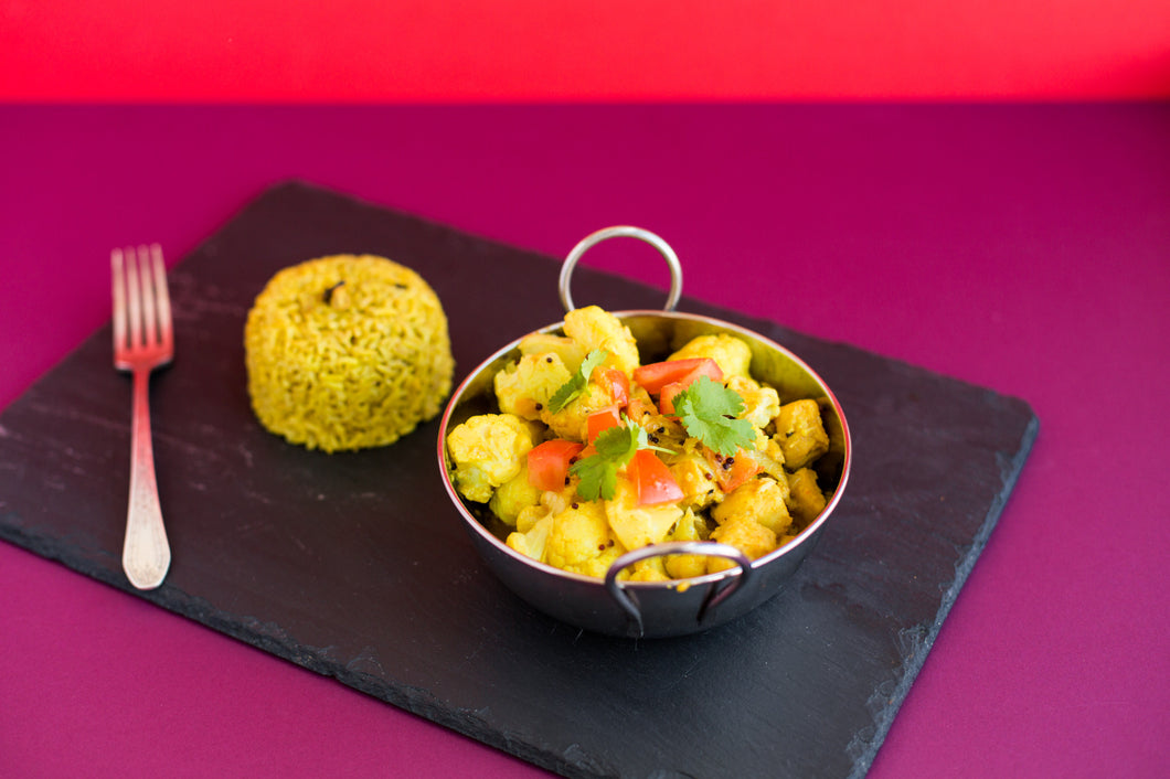 Make Kit Cauliflower, Coconut and Chickpea Curry with Spiced Rice Recipe Kit