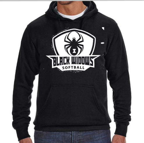 Black Widow Softball Hoodie