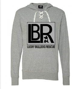 Lucky Bulldogs Rescue Lace Up Hoodie