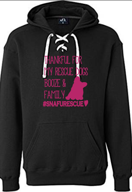 Thankful Lace Up Hoodie with Cocktails