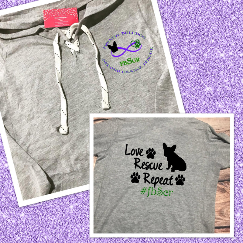 French Bulldog Second Chance Rescue Infinity Logo