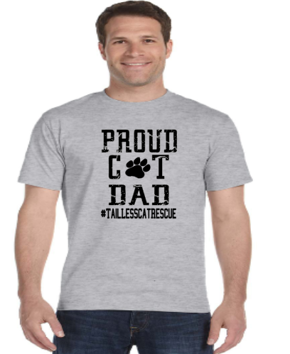 Proud Cat Dad- Tailess
