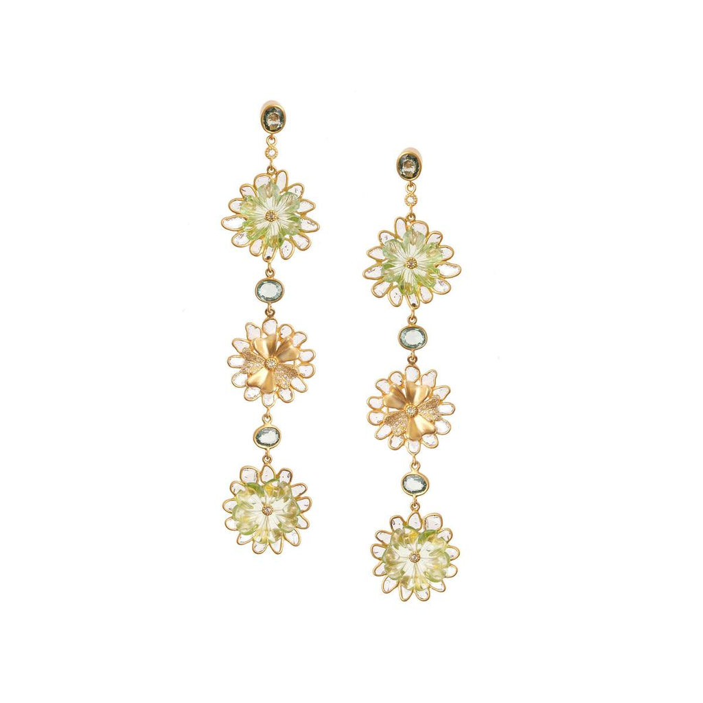 20K Affinity Carved Peridot Earrings, $19,000. product:20k-affinity-carved-peridot-earrings