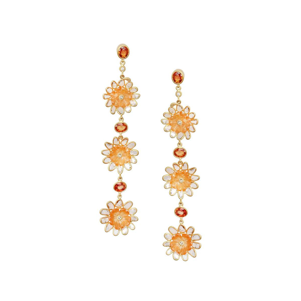 20K Affinity Carved Carnelian Earrings, $9,000. product:20k-affinity-carved-carnelian-earrings