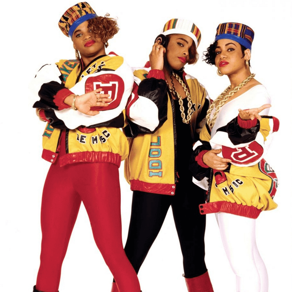 Salt N Pepa seen styling chunky circular and square hoop styles, 1990s.