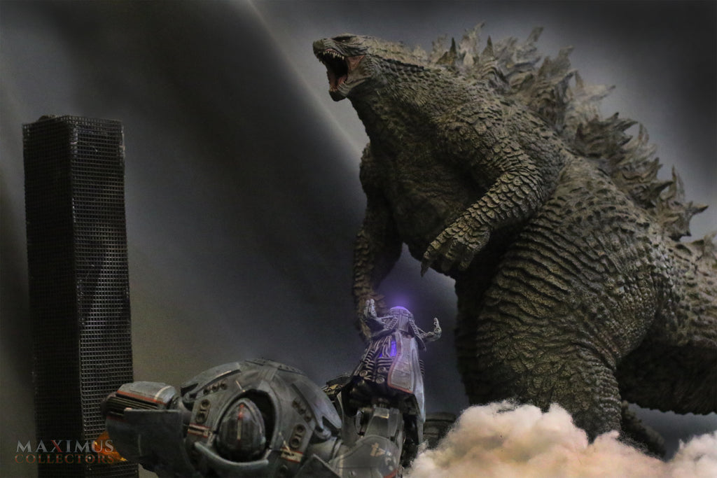 Action Figure Photography with Gigantic Godzilla 2019 X-Plus & Gypsy Danger