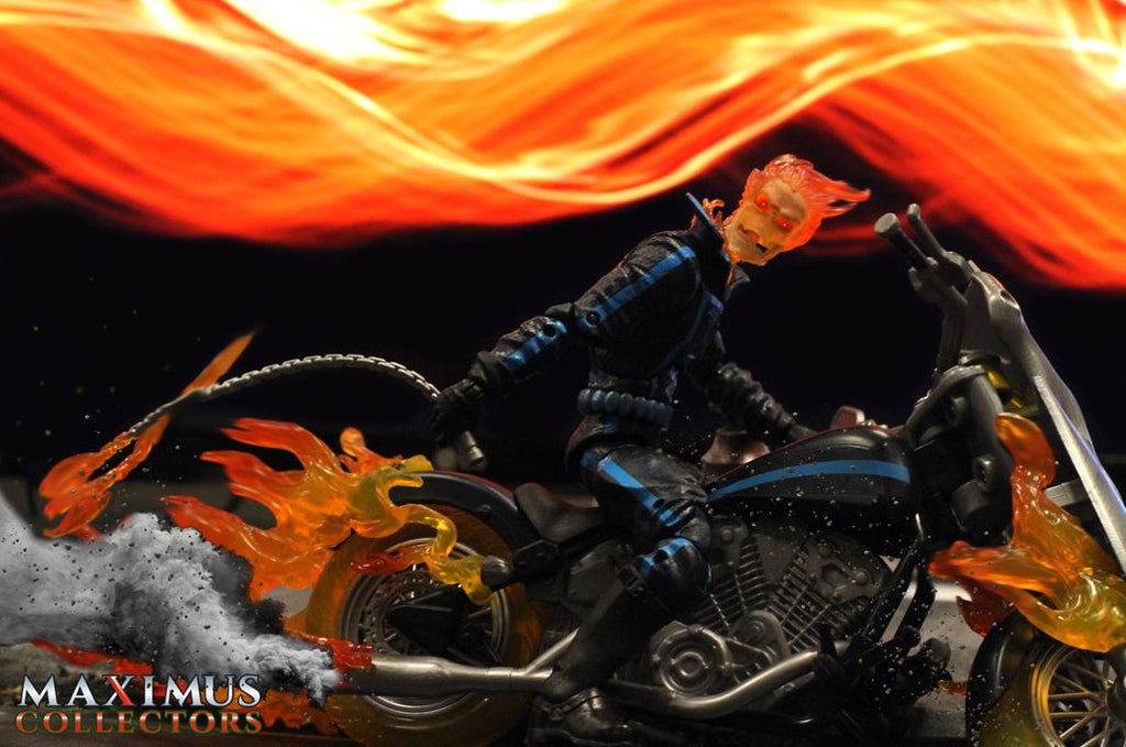 Maximus Collectors Ghost Rider Motorcycle Photography Action Figure ACBA Order Buy