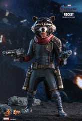 Avengers: Endgame MMS548 Rocket 1/6th Scale Collectible Figure BY HOT TOYS maximus collectors toys and gifts
