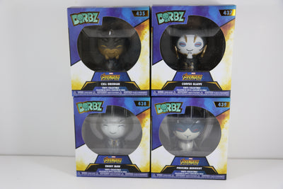 DORBZ - Avengers Infinity War: Black Order Set of 4 (Cull Obsidian, Midnight Proxima, Corvus Glaive, Ebony Maw) - Maximus Collectors Toys & Gifts