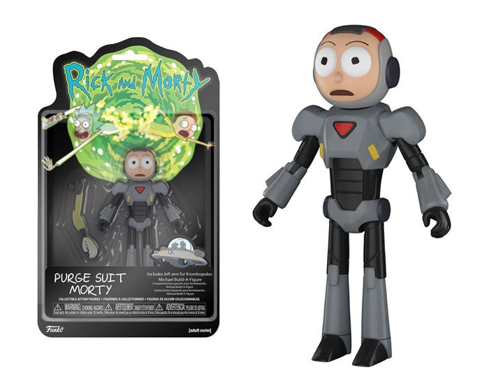 Rick and Morty Series 2 Morty (Purge Suit) Action Figure (Krombopulos Michael Parts)-Maximus Collectors